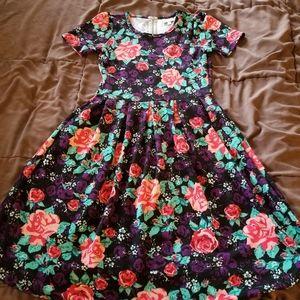 LuLaRoe Amelia Floral Dress with Pockets